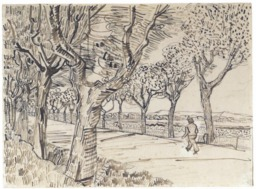 Route de Tarascon avec piéton en 1888. Source : http://data.abuledu.org/URI/5515ca60-route-de-tarascon-avec-pieton-en-1888