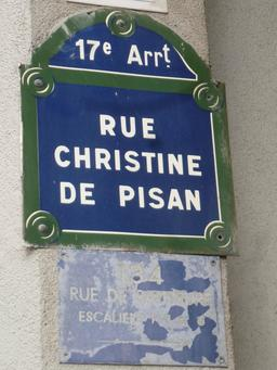 Rue Christine de Pisan à Paris. Source : http://data.abuledu.org/URI/58c66072-rue-christine-de-pisan-a-paris