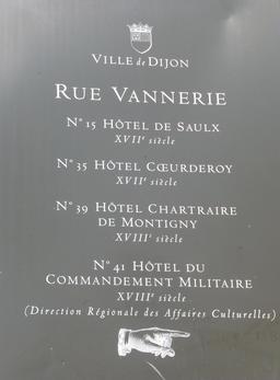 Rue de la vannerie à Dijon. Source : http://data.abuledu.org/URI/581c929e-rue-de-la-vannerie-a-dijon