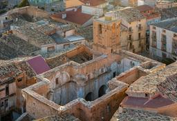 Ruines de l'église San Pedro d'Ariza. Source : http://data.abuledu.org/URI/57015081-ruines-de-l-eglise-san-pedro-d-ariza