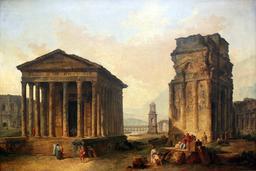 Ruines de Nimes, Orange et Saint-Rémy-de-Provence en 1789. Source : http://data.abuledu.org/URI/53f4f490-ruines-de-nimes-orange-et-saint-remy-de-provence-en-1789