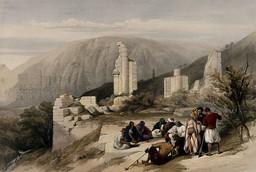 Ruines de Petra en 1849. Source : http://data.abuledu.org/URI/54b5ab86-ruines-de-petra-en-1849