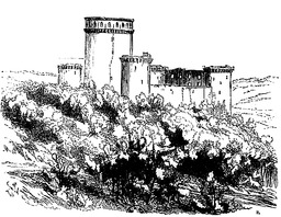 Ruines du château de Coucy en 1875. Source : http://data.abuledu.org/URI/543ee7c4-ruines-du-chateau-de-coucy-en-1875
