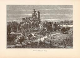Ruines du château de Gisors en 1882. Source : http://data.abuledu.org/URI/52643f69-ruines-du-chateau-de-gisors-en-1882
