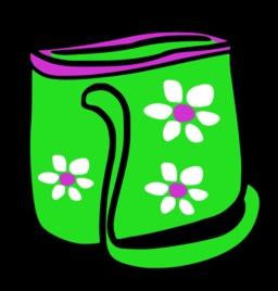 Sac de plage vert à fleurs. Source : http://data.abuledu.org/URI/527af33d-sac-de-plage-vert-a-fleurs