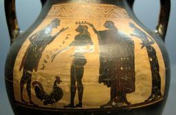 Sacrifice d'un coq aux dieux grecs. Source : http://data.abuledu.org/URI/51eef6bf-sacrifice-d-un-coq-aux-dieux-grecs