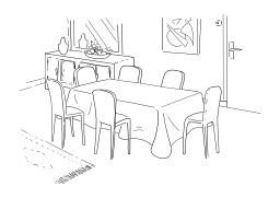 Salle à manger. Source : http://data.abuledu.org/URI/5027a1e7-salle-a-manger