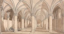 Salle des chevaliers au Mont-Saint-Michel. Source : http://data.abuledu.org/URI/54a89122-salle-des-chevaliers-au-mont-saint-michel