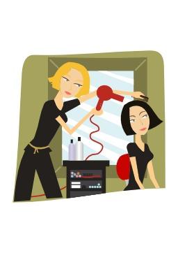 Salon de coiffure. Source : http://data.abuledu.org/URI/5404312d-salon-de-coiffure