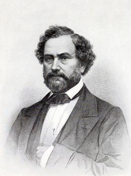 Portrait de Samuel Colt en 1857. Source : http://data.abuledu.org/URI/53733539-samuel-colt-