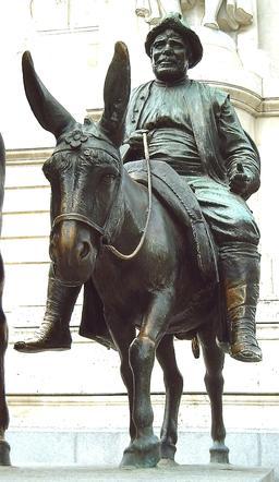 Sancho Panza sur son âne. Source : http://data.abuledu.org/URI/54a17c28-sancho-panza-sur-son-ane