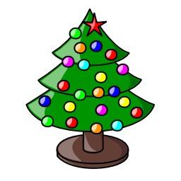 Sapin de Noël décoré. Source : http://data.abuledu.org/URI/504a1bfa-sapin-de-noel-decore
