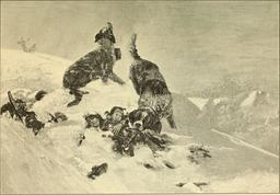 Sauvetage en montagne en 1901. Source : http://data.abuledu.org/URI/58b2eef9-sauvetage-en-montagne-en-1901