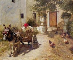 Scène dans une cour de ferme. Source : http://data.abuledu.org/URI/47f4beb8-sc-ne-dans-une-cour-de-ferme