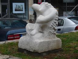Sculpture de hérisson. Source : http://data.abuledu.org/URI/51fd090d-sculpture-de-herisson