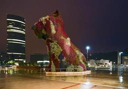Sculpture topiaire à Bilbao. Source : http://data.abuledu.org/URI/5414580c-sculpture-topiaire-a-bilbao