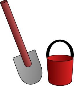 Seau et pelle d'enfant. Source : http://data.abuledu.org/URI/52accf3d-seau-et-pelle-d-enfant