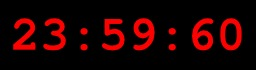 Seconde intercalaire sur horloge numérique. Source : http://data.abuledu.org/URI/5096b58f-seconde-intercalaire-sur-horloge-numerique