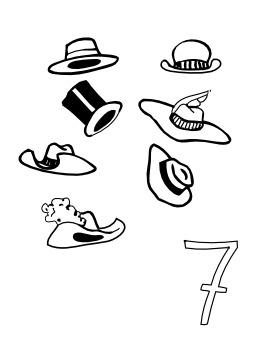 Sept chapeaux. Source : http://data.abuledu.org/URI/5027ad4a-sept-chapeaux