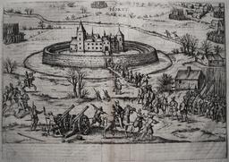 Siège d'un château en 1590. Source : http://data.abuledu.org/URI/532e92d2-siege-d-un-chateau-en-1590
