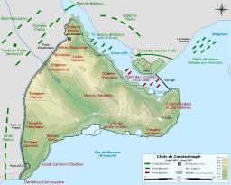 Siège de Constantinople. Source : http://data.abuledu.org/URI/51d4a5e5-siege-de-constantinople