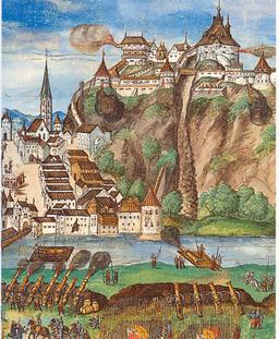 Siège de Kufstein par l'empereur Maximilien I. Source : http://data.abuledu.org/URI/5307a50f-siege-de-kufstein-par-l-empereur-maximilien-i