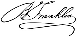 Signature de Benjamin Franklin. Source : http://data.abuledu.org/URI/53ade95b-signature-de-benjamin-franklin