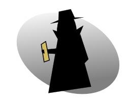 Silhouette d'espion. Source : http://data.abuledu.org/URI/53b719e5-silhouette-d-espion