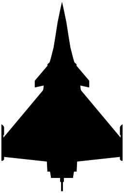 Silhouette d'un Rafale. Source : http://data.abuledu.org/URI/51afa7c7-silhouette-d-un-rafale