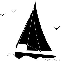 Silhouette de bateau à voile. Source : http://data.abuledu.org/URI/534db288-silhouette-de-bateau-a-voile