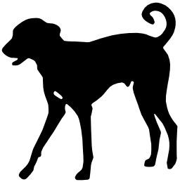 Silhouette de chien. Source : http://data.abuledu.org/URI/514e338e-silhouette-de-chien