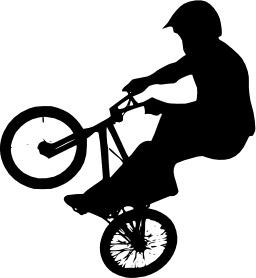 Silhouette de cycliste. Source : http://data.abuledu.org/URI/53b718fa-silhouette-de-cycliste