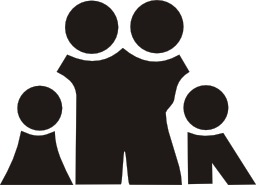 Silhouette de famille. Source : http://data.abuledu.org/URI/54032fbb-silhouette-de-famille
