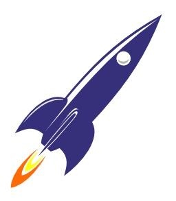Silhouette de fusée bleue. Source : http://data.abuledu.org/URI/54067b37-silhouette-de-fusee-bleue