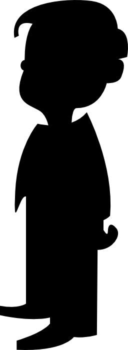 Silhouette de garçon. Source : http://data.abuledu.org/URI/54032a2d-silhouette-de-garcon