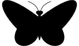 Silhouette de papillon. Source : http://data.abuledu.org/URI/53c6c46a-silhouette-de-papillon