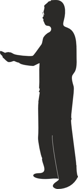 Silhouette de présentateur à lunettes. Source : http://data.abuledu.org/URI/543582b2-silhouette-de-presentateur-a-lunettes