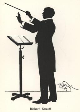 Silhouette de Richard Strauss en 1918. Source : http://data.abuledu.org/URI/54bbd235-silhouette-de-richard-strauss-en-1918