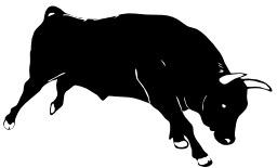Silhouette de taureau. Source : http://data.abuledu.org/URI/5049e96a-silhouette-de-taureau