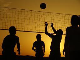 Silhouettes de joueurs de Volley-ball. Source : http://data.abuledu.org/URI/53b71ac2-silhouettes-de-joueurs-de-volley-ball