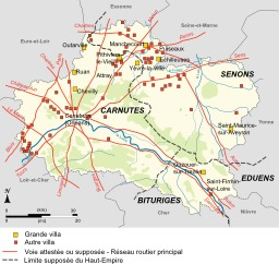 Sites gallo-romains dans le Loiret. Source : http://data.abuledu.org/URI/51cf521d-sites-gallo-romains-dans-le-loiret