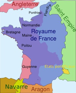 Situation de la Guyenne en 1330. Source : http://data.abuledu.org/URI/50708a4c-situation-de-la-guyenne-en-1330