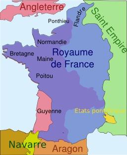 Situation de la Guyenne en 1330. Source : http://data.abuledu.org/URI/50708a4c-situation-de-la-guyenne-en-1330