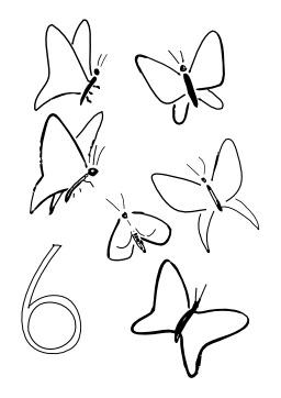 Six papillons. Source : http://data.abuledu.org/URI/5027afeb-six-papillons
