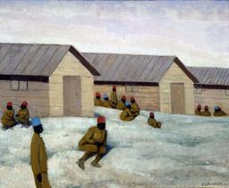 Soldats sénégalais au camp de Mailly. Source : http://data.abuledu.org/URI/535ecbf3-soldats-senegalais-au-camp-de-mailly