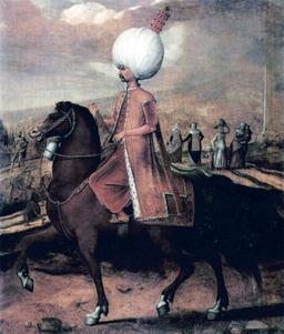 Soliman le Magnifique sur sa monture. Source : http://data.abuledu.org/URI/5308836b-soliman-le-magnifique-sur-sa-monture