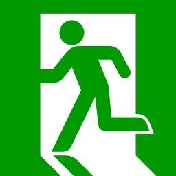 Sortie de secours. Source : http://data.abuledu.org/URI/51bc68a8-sortie-de-secours