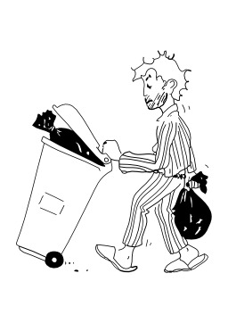 Sortir les poubelles. Source : http://data.abuledu.org/URI/5027b217-sortir-les-poubelles