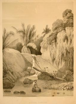 Source d'Amboine en 1838. Source : http://data.abuledu.org/URI/59815b45-source-d-amboine-en-1838