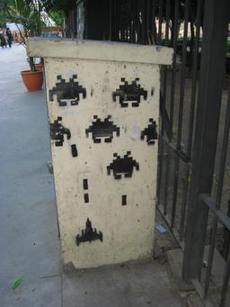 Space Invaders à Malaga. Source : http://data.abuledu.org/URI/52c1ef2a-space-invaders-a-malaga